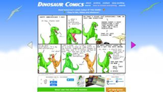 This image has an empty alt attribute; its file name is dinosaurcomics.jpg