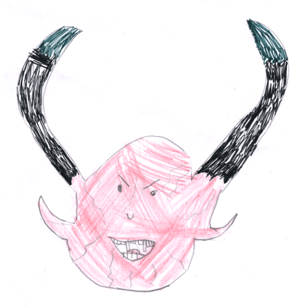 Demon drawn by Zoey J, age 5